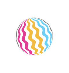 attractive colorful rubber ball icon juicy summer vector image