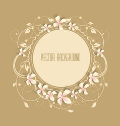 Beautiful frame vector image vector image