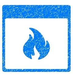 Fire Calendar Page Grainy Texture Icon vector image vector image