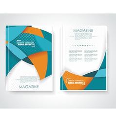 Geometric design business brochures magazines vector image