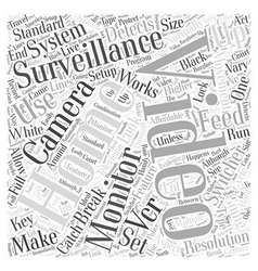 how home video surveillance works brought by vector image vector image