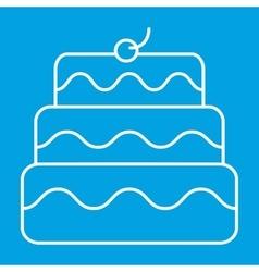New birthday cake thin line icon vector image vector image