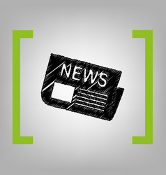 newspaper sign black scribble icon in vector image vector image