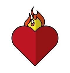 Sacred heart of jesus vector