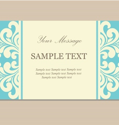 blue vizit card vector image