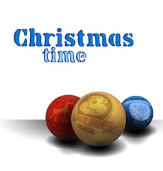 Christmas time background vector image vector image