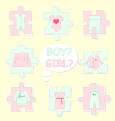 clothes-for-baby vector image vector image