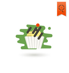 cupcake modern flat icon vector image