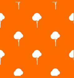 Fluffy tree pattern seamless vector
