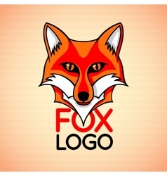 logo badge sign template with red fox vector image