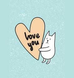 love u rabbit vector image