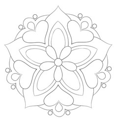 A children coloring bookpage a cute mandala image vector