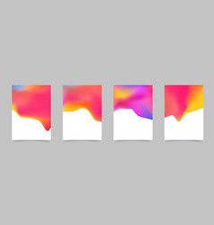 abstract bright liquid colorful poster design vector image