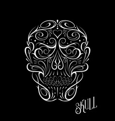 abstract skull shape white pattern vector image