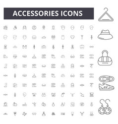 accessories line icons signs set outline vector image