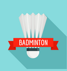 badminton sport logo flat style vector image