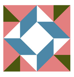barn quilt pattern patchwork design abstract vector image