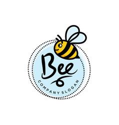 Bee logo design template vector