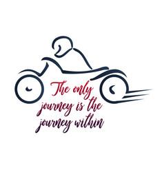 Biker inspirational quotes vector