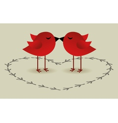 Birds love card vector