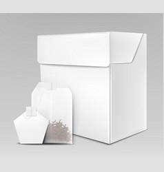 black tea packaging 3d realistic mock-up vector image
