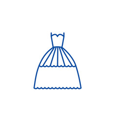 bridal evening dress line icon concept bridal vector image