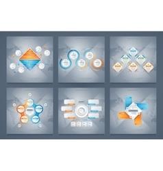 business infographics modern concept set vector image