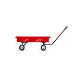 cart childs toy vector image
