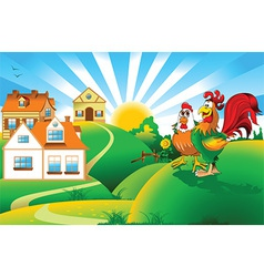 Cartoon rooster design vector image