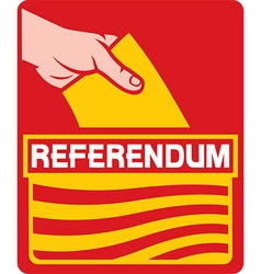 Catalonia Referendum Icon vector image