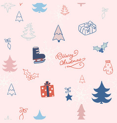 christmas background seamless pattern vector image