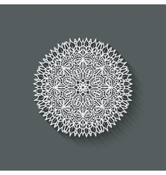 Circular pattern design element vector