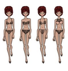 Collection of lingerie Body vector image