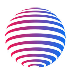 Company logo circle sphere with horizontal stripes vector