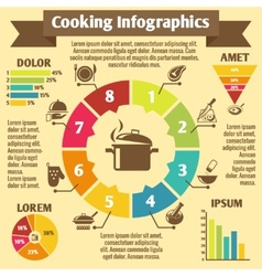 Cooking infographic icons vector image