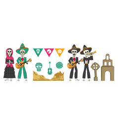 Day of the dead banner vector