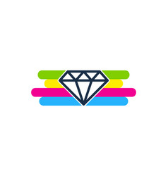 diamond paint logo icon design vector image