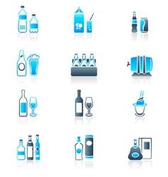 drink bottles icons marine vector image