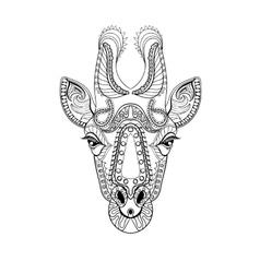 entangle giraffe head totem for adult anti stress vector image