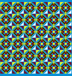 Ethnic seamless pattern african kente cloth vector