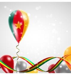 Flag of Cameroon on balloon vector