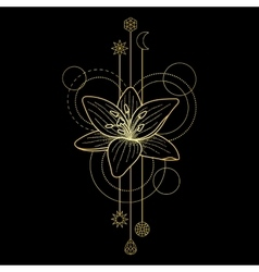 Floral geometric sign vector image