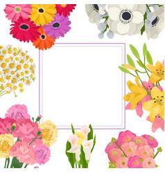 floral summer frame garden vector image