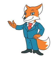 fox in office suit 2 vector image