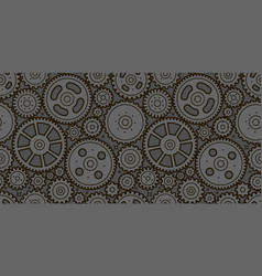 gears seamless background business industry vector image