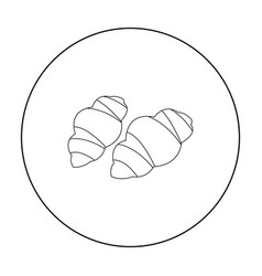 Gnocchi pasta icon in outline style isolated on vector