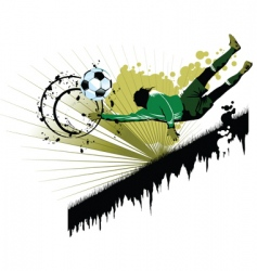 goalkeeping vector image