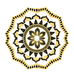 golden mandala border antique decoration ornament vector image