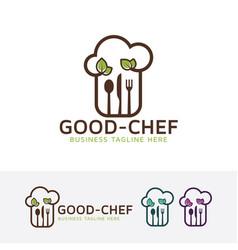 good chef logo design vector image