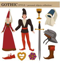 gothic medieval 14 century european old retro vector image